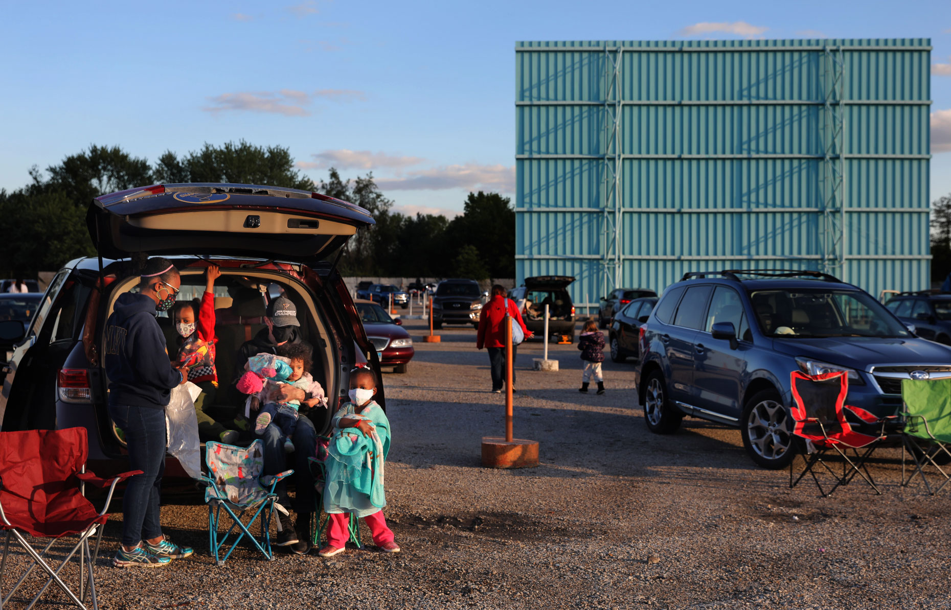 Family night out at the Skyview Drive-in