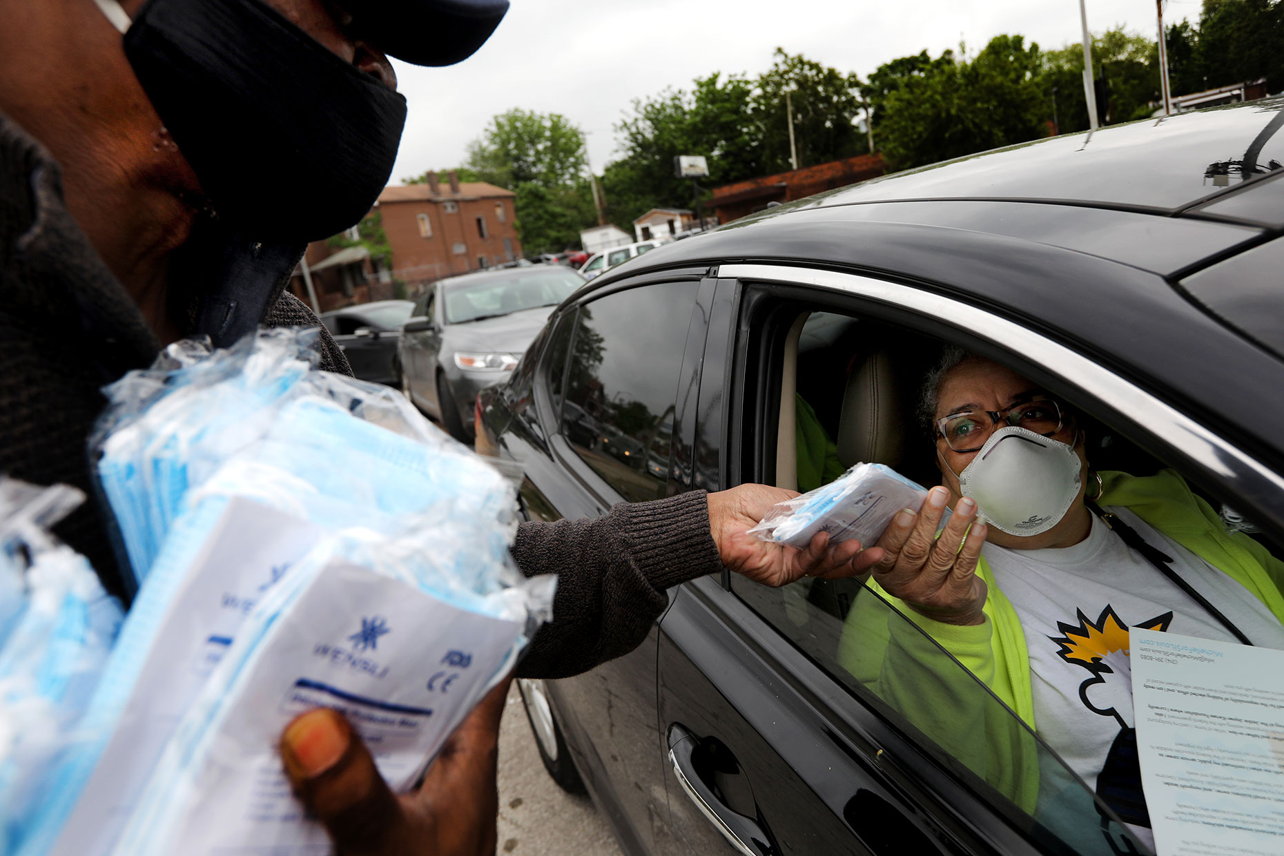 40K masks and hand sanitizers given away in north St. Louis