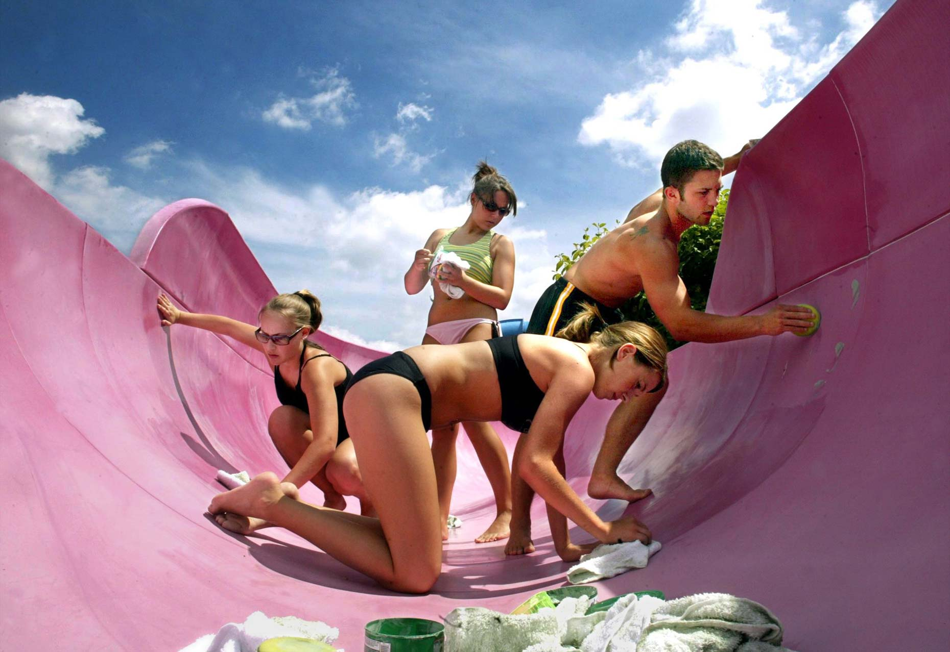 Water Slide Prep for Summer